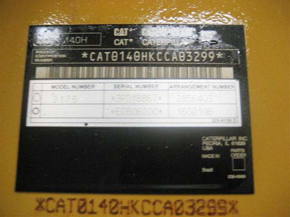 Cat 140H CCA03299